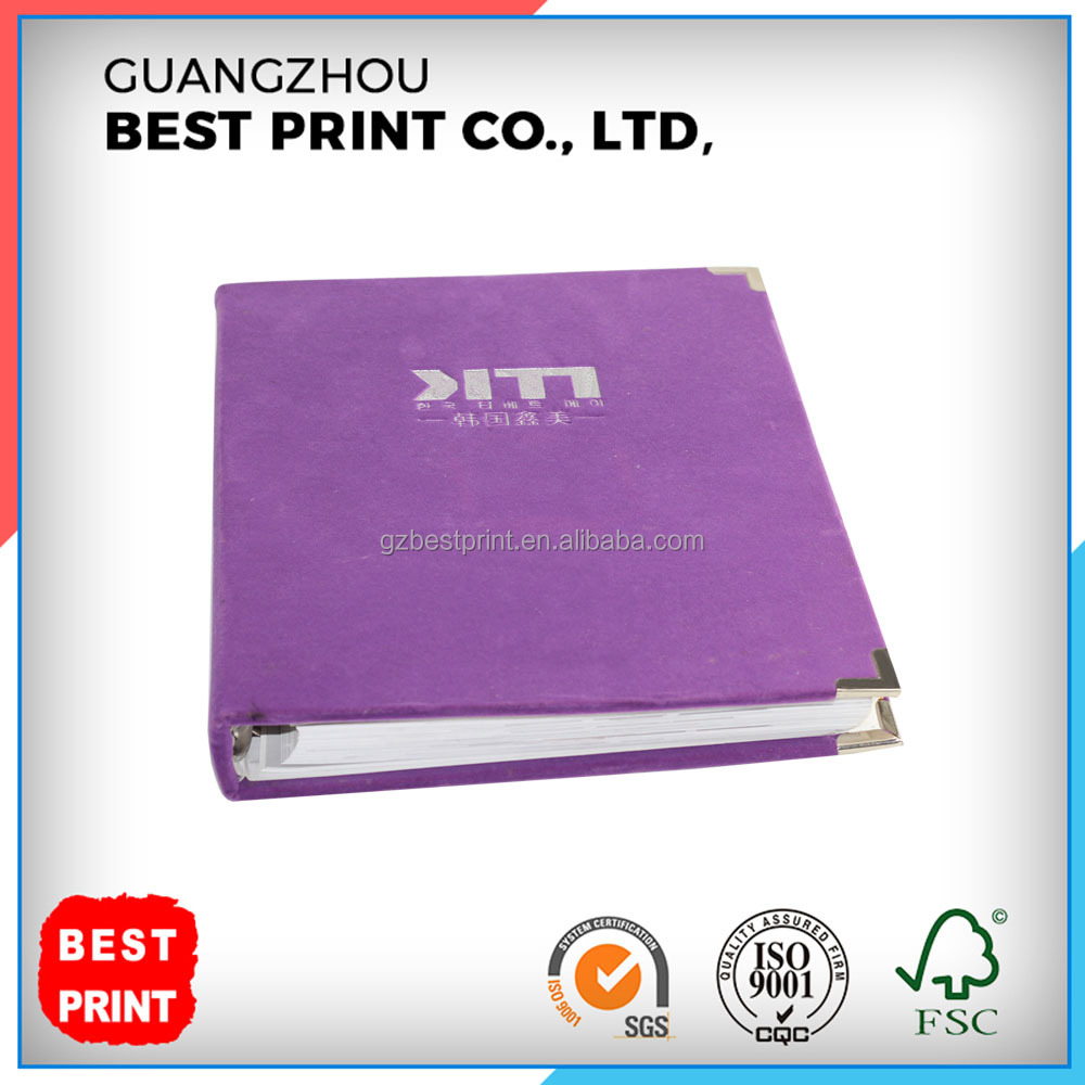 Factory Supplier High Grade Customized OEM Debossed Hardcover Catalogue with Loose-leaf