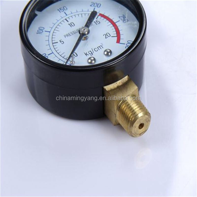Durable Light Weight Easy To Read Clear oxygen cylinder application mini pressure gauge y-60