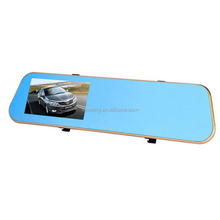 Dual Lens Seamless loop-cycle recording rearview mirror car gps with dvr