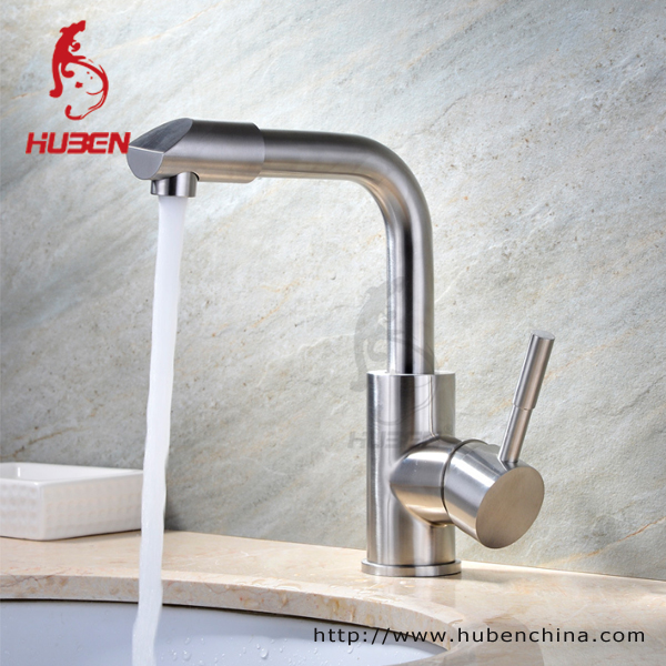 Stainless steel brush pull down kitchen faucet