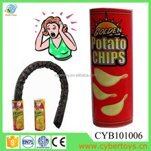 Plastic prank toys jumping snake in the potato chips CYB101006