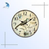 Promotional cheap MDF wooden wall clock,wooden clock kits,wooden clock