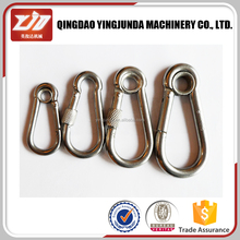 ISO9001 Supply Top Quality A2 A4 Stainless Steel 304/316 DIN5299C Snap Hooks Carabiner Hook With Screw 3mm-14mm