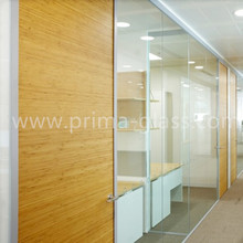 Prima sound proof decorative tempered glass office partition