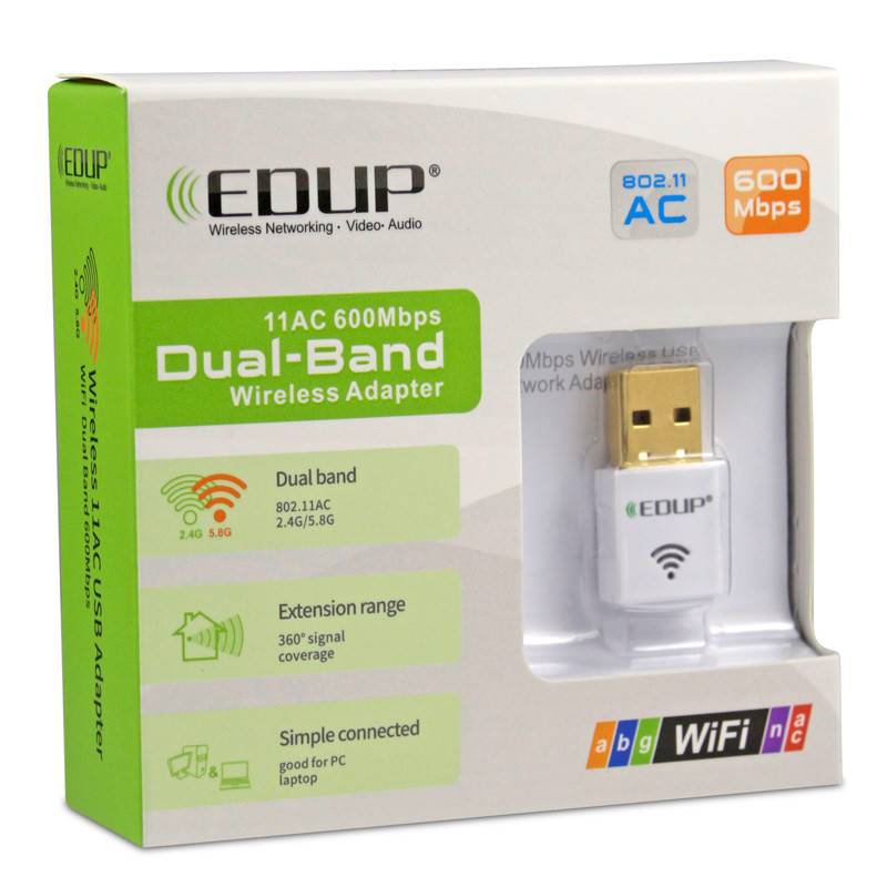 802.11AC 5GHz Duan Band 600Mbps USB WiFi Adapter for Satellite Receiver DVB TV Set Box