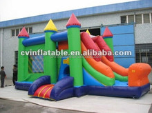 Durable inflatable jumping castle with slide combo, inflatable children moon bounces, cheap infaltable bouncer with slides