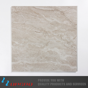 Indonesian High Quality Non-Slip High Gloss Floor Tile Beige Cultured Marble Glazed Floor Tiles