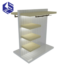 KSL High quality products store fixture wood clothes gondola shelving