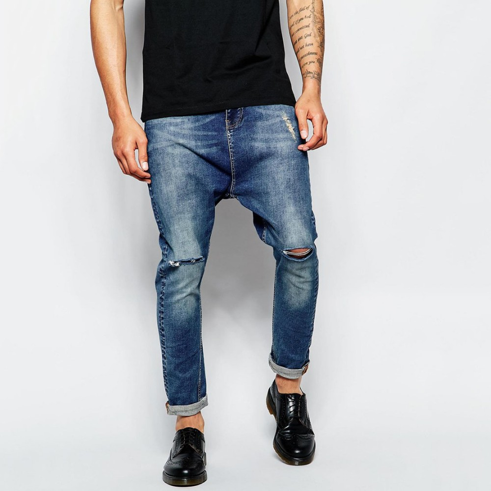 plain fashion custom design jeans pants bulk new style