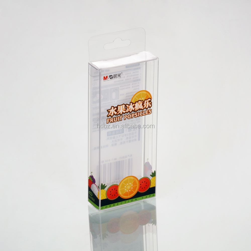 factory custom clear plastic box for stationery products packing box