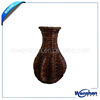 wicker flower vase for home decoration