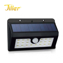 20 LED High quality PIR 3.7V Small Solar Security Led Motion Sensor wall Light Lamp garden night light
