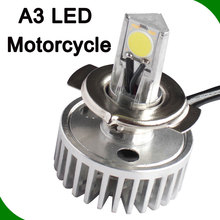 led motorcycle headlight, factory wholesale led motorcycle led light bulbs A3 1800lm 6000k led light bulbs 2400lm high low 12v