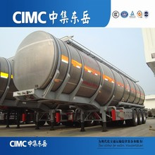CIMC Oil Tank Trailer Aluminium Tanker Trailer with Air Suspension