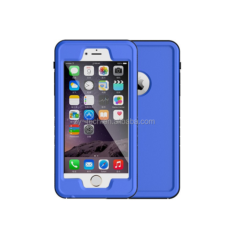 Pattern Phone Waterproof Case TPU Stand Flip Leather Cover for iPhone 6plus warerproof case