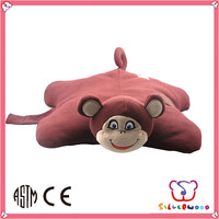 ICTI Factory lovely plush fabric filled pillow head animal