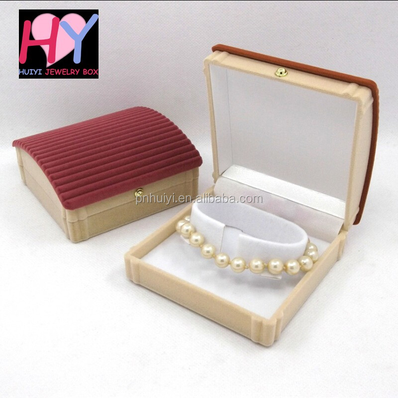 Cheap plastic velvet beaded jewelry box manufacturer buy for Custom jewelry packaging manufacturers