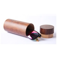 2019 custom bamboo wooden sun glasses case for glasses