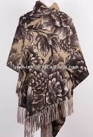 100% cashmere printing double-sided shawl 60*180cm