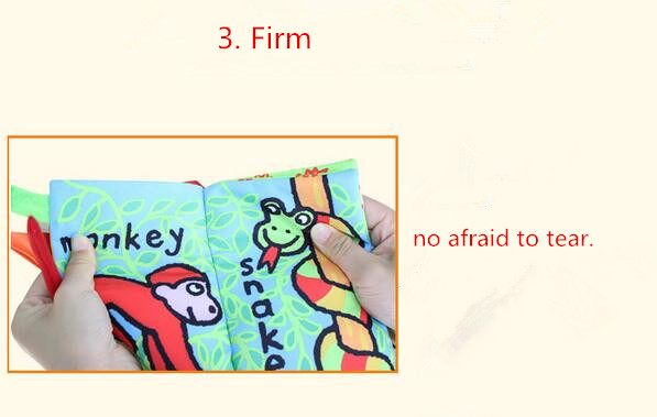 Early education cloth book for kids, soft fabric educational cloth books