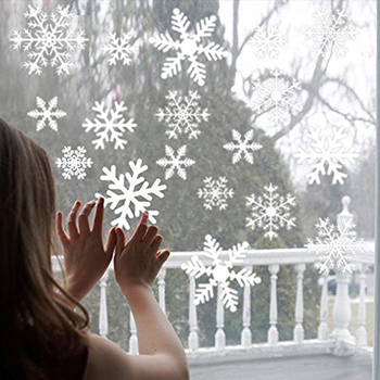 Wholesale White Snowflakes Window Clings Decal Stickers Winter Wonderland Christmas Decorations