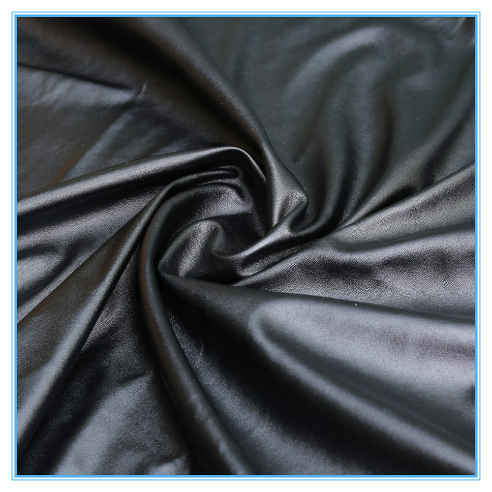 OEM new product pu coated synthetic leather for clothing fabric