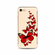 New fashion butterfly beauty cellphone case for iphone 5 5s 6 6s 7 8 X plus mobile cases cover for i phone silcone Soft TPU