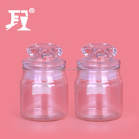 130ml glass jars stocked borosilicate storage jar with glass lids