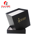 Custom decorative square black flower packing gift boxes paper