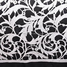 Three-dimensional hollow out grass type water soluble embroidery lace
