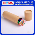 custom wholesale cheap paper tube wooden color pencil set