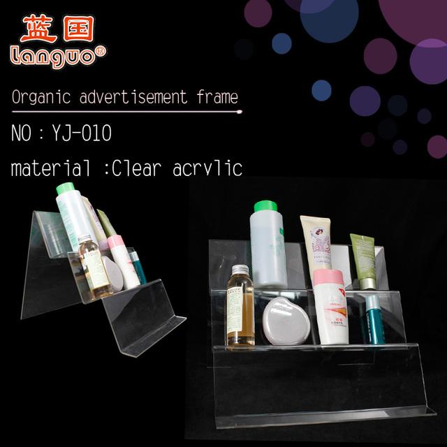 Custom Acrylic Makeup Display Stand Desktop Cosmetic Display Rack