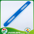 Competitive price print logo elastic custom slap bracelets
