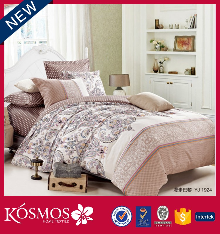 home useful latest design single size duvet covers flower print 100%cotton modern bed sheet sets