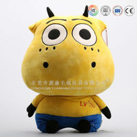 lovely cartoon baby ox plush toy or baby cattle soft stuffed toys for kids