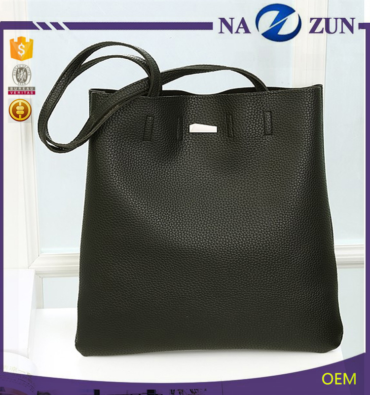 winter Fashion 2016 wholesale bag leather cheap black ladies handbags for lady
