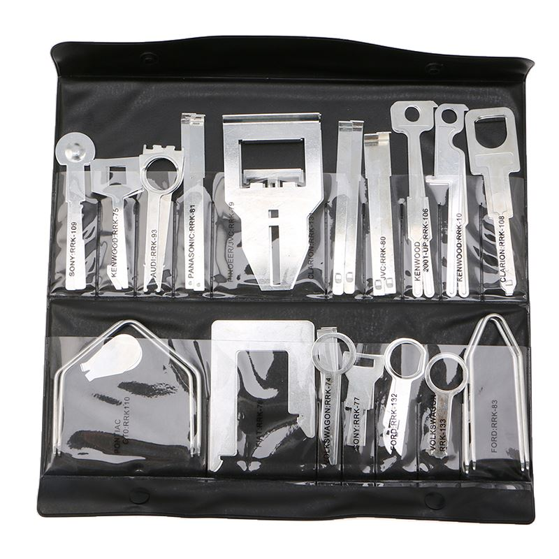 38Pcs/Set Car Stereo Radio Release Removal Tools Key Kit For Benz For Sony Ford Audi -Y102