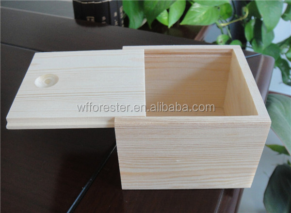 cheap wholesale unfinished wooden craft boxes coffee mug gift box