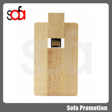 Best gift business wooden card USB 2.0 Flash Memory Stick Pen Thumb Drive 8GB