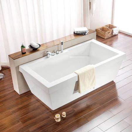 Rectangular Acrylic Bath Tub Cheap Freestanding Bathtub