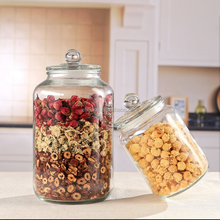 prismatic shape glass food storage jar sealed glass lid beans candy jar