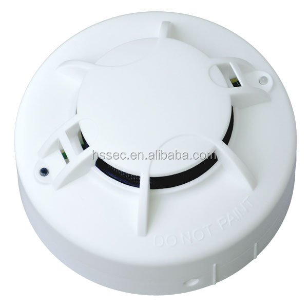 Haisheng 220 volt AC powered hardwired photoelectric smoke detectors HS-DG321 with battery back up