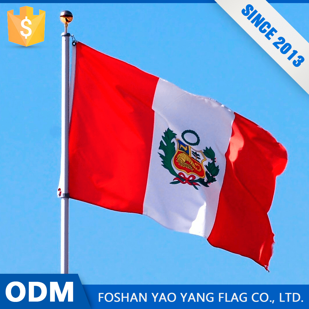 Factories In China Best Selling Custom High Resolution Printing Peru Flag