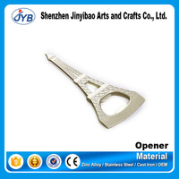 eiffel tower metal bottle opener parts for promotion