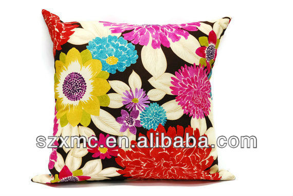 100% ployester cushion cover colorful floral pillow case embroidery designs