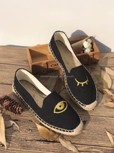 2017 new fashion flat jute espadrilles shoes lady shoes