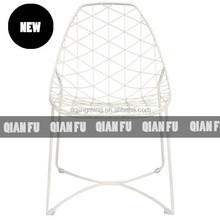 Contemporary Metal Wire Mesh Outdoor Chair