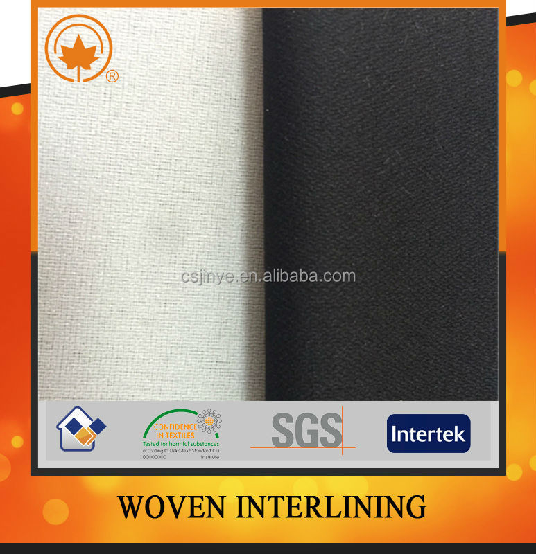 High quality interlining fusing,paper woven in china factory