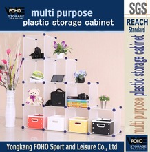 AL0038 Modular DIY easy to disassemble plastic portable plastic storage cabinet