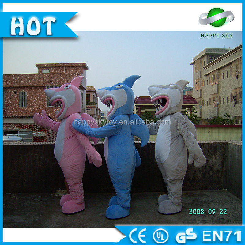 Cheap Price!!!CE Quality Colorful Shark Mascot Costume!Aquatic Creature Mascot Costume For Adult!